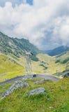 Transfagarasan serpent road from Fagaras mountains, Carpathians Stock Photography