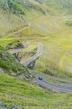 Transfagarasan serpent road from Fagaras mountains, Carpathians Royalty Free Stock Image