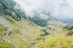Transfagarasan serpent road from Fagaras mountains, Carpathians Stock Images