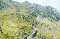Transfagarasan serpent road from Fagaras mountains, Carpathians Royalty Free Stock Photography