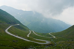Transfagarasan, before the storm. This is Transfagarasan, the second highest road in Romania, the place where the mountains touch the sky. A place as beautiful Royalty Free Stock Photography
