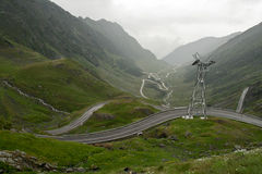 Transfagarasan, before the storm Stock Photography