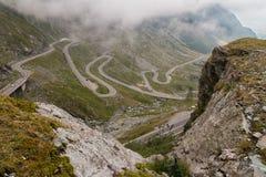 TransFagarasan trasa w Rumunia fotografia royalty free