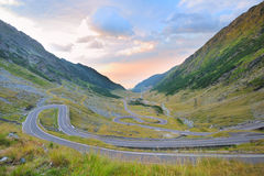 Transfagarasan winding road Royalty Free Stock Image