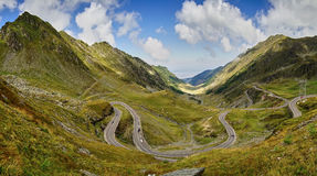 Transfagarasan Winding Road Royalty Free Stock Photography