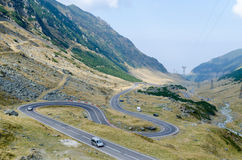 Transfagarasan. Is a winding road in the mountains, crosses the Fagaras royalty free stock photos