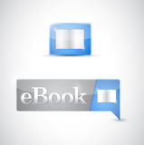 Transferência azul do botão do ícone de Ebook Imagens de Stock Royalty Free