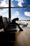 Transferência da espera do aeroporto foto de stock