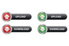 Transferência da transferência de arquivo pela rede do botão da Web Fotografia de Stock Royalty Free