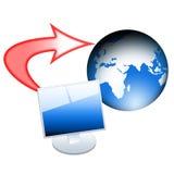 Transferência de arquivo pela rede Fotos de Stock