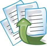 A transferência de arquivo pela rede arquiva o ícone Foto de Stock