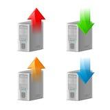 Transferência de arquivo pela rede e transferência Fotografia de Stock