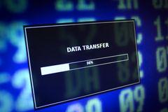 Transferência de dados imagem de stock