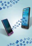 Transferência de dados móvel Imagem de Stock