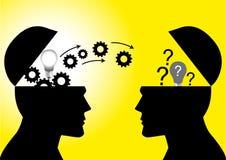 Transferência do conhecimento ou das ideias ilustração stock