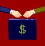 Transferência do dinheiro Foto de Stock Royalty Free