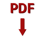 Transferência do pdf Imagens de Stock