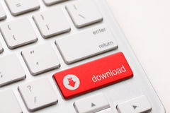 A transferência incorpora a chave do botão Imagem de Stock