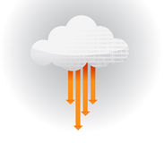 Transfer arrows Cloud glossy icon illustration Royalty Free Stock Images