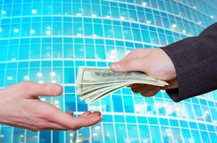 Transfer of cashes Royalty Free Stock Photo