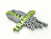 Transfer 3d word concept Royalty Free Stock Images
