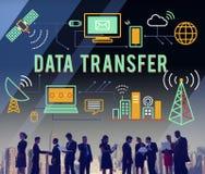 Transfer Danych technologii sieci operaci informaci pojęcie Fotografia Royalty Free