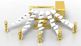 Transfer Documents Stock Image