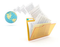 Transfer of documents. Stock Photos
