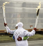 Transfer Of The Flame Stock Image