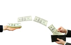 Transfer of funds Royalty Free Stock Photo