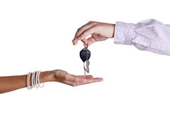Transfer of ignition keys Stock Image