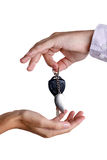 Transfer of ignition keys Royalty Free Stock Image
