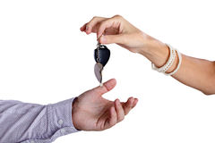Transfer of ignition keys Stock Images