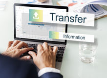 Transfer Information Internet Graph Concept Royalty Free Stock Photography