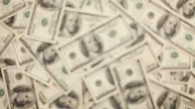 Transfer Of Money. Money, Lots Of Hundred Dollar Bills stock video