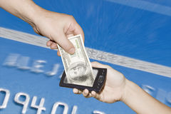 Transfer money online 2 royalty free stock photography