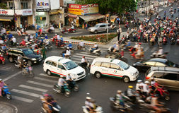 Transfer by motorcycle, unsafe situation, Viet nam Stock Photo
