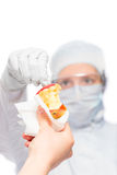 Transfer of physical evidence from the crime scene. To the laboratory royalty free stock images