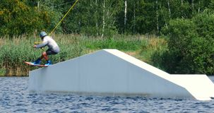Transfer Wakeboarding Static 4k stock video footage