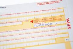 Transferencia bancaria Imagenes de archivo