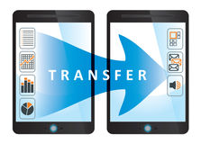Transferencia, concepto de la comunicación Imagenes de archivo