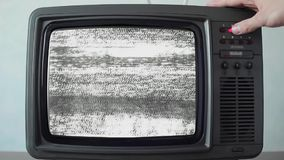 Transferencia de canal en el vintage TV, cierre para arriba almacen de video