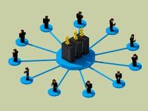 Transferencia de datos al dinero Foto de archivo libre de regalías