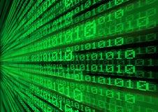 Transferencia de datos del código de ordenador Imágenes de archivo libres de regalías