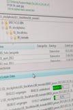 Transferencia de datos vía el FTP Fotografía de archivo