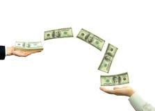 Transferencia de fondos Imágenes de archivo libres de regalías
