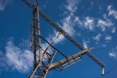 Transferencia de la energía eléctrica Imagenes de archivo