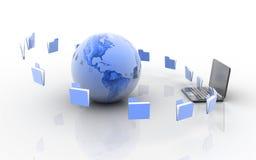 Transferencia de los datos Imágenes de archivo libres de regalías