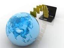 Transferencia de los datos Imagen de archivo libre de regalías