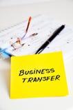 Transferencia de negocio Imagen de archivo